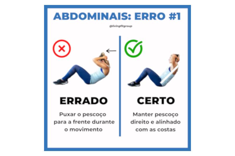 Abdominais – Erro #1