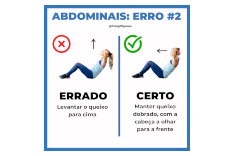 Abdominais – Erro #2